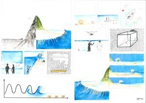 étude des vagues sur le récif dans un contexte de hausse du niveau de la mer